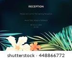 wedding invitation or card... | Shutterstock .eps vector #448866772