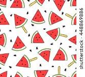 seamless decor pattern of... | Shutterstock .eps vector #448869886