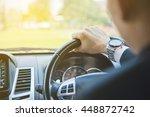 man driving a car  business man ... | Shutterstock . vector #448872742