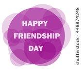 happy friendship day | Shutterstock .eps vector #448874248