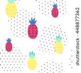 seamless summer pattern. vector ... | Shutterstock .eps vector #448877362