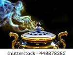 golden incense burner with... | Shutterstock . vector #448878382