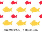 seamless fish pattern | Shutterstock .eps vector #448881886