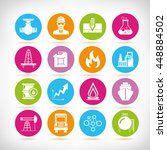 oil and gas icons | Shutterstock .eps vector #448884502