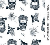 hipster seamless pattern with... | Shutterstock . vector #448887802