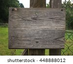 old  weathered wooden sign... | Shutterstock . vector #448888012
