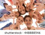 childhood  fashion  friendship... | Shutterstock . vector #448888546