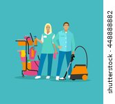 cleaning service concept vector ... | Shutterstock .eps vector #448888882