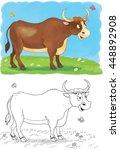 at the farm. domestic animals....   Shutterstock . vector #448892908