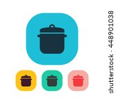 vector illustration of saucepan ...