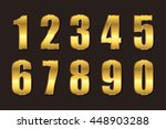 set of metallic numbers.vector... | Shutterstock .eps vector #448903288