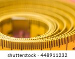 measuring tape of the tailor on ... | Shutterstock . vector #448911232