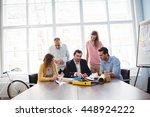 business people in meeting room ... | Shutterstock . vector #448924222