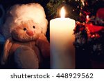 Lonely Toy Near Candle Lamp