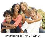 group of teenagers having fun | Shutterstock . vector #44893240