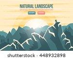 mountaineer climbing mountain... | Shutterstock .eps vector #448932898
