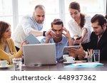 irritated businessman in... | Shutterstock . vector #448937362