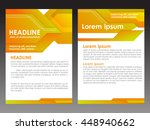 yellow annual report brochure... | Shutterstock .eps vector #448940662