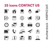 thin lines web icons set...   Shutterstock .eps vector #448942165