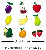 fruit icon set. icons isolated... | Shutterstock .eps vector #448942366