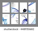 geometric cover background ... | Shutterstock .eps vector #448950682