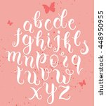 hand drawn abc letters. modern...   Shutterstock .eps vector #448950955