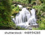 Triberg Waterfall With Wooden...