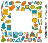 vector doodle set of education... | Shutterstock .eps vector #448968286