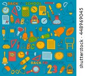 vector doodle set of education... | Shutterstock .eps vector #448969045