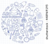 vector doodle set of education... | Shutterstock .eps vector #448969195