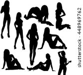 vector silhouette of a sexy... | Shutterstock .eps vector #448969762