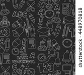 vector doodle set of education... | Shutterstock .eps vector #448970818