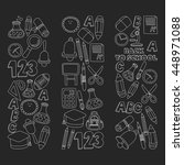vector doodle set of education... | Shutterstock .eps vector #448971088