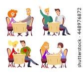 cute cartoon couples of various ... | Shutterstock .eps vector #448976872