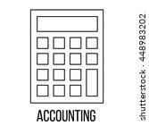 accounting icon or logo line...