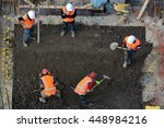 aerial top view of construction ... | Shutterstock . vector #448984216