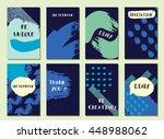 sea background. invitation. set ... | Shutterstock . vector #448988062