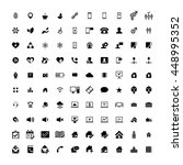 set of 100 universal icons.... | Shutterstock .eps vector #448995352