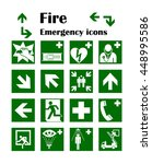 fire emergency icons. vector... | Shutterstock .eps vector #448995586