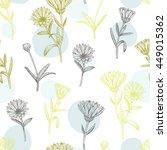 vector hand drawn medicinal... | Shutterstock .eps vector #449015362