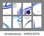 geometric cover background ... | Shutterstock .eps vector #449015476