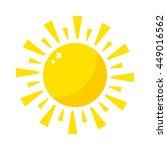 vector sun icon isolated on... | Shutterstock .eps vector #449016562