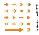 arrow sign icon set | Shutterstock .eps vector #449027722