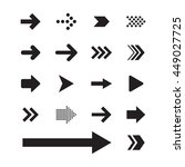 arrow sign icon set | Shutterstock .eps vector #449027725