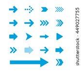 arrow sign icon set | Shutterstock .eps vector #449027755
