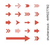 arrow sign icon set | Shutterstock .eps vector #449027782