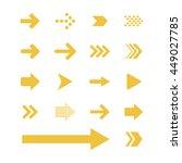 arrow sign icon set   Shutterstock .eps vector #449027785
