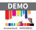 demo  demo preview  ideal ... | Shutterstock . vector #449028832