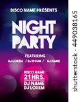 night party and disco concept... | Shutterstock .eps vector #449038165