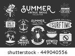 set of vintage summer badges...